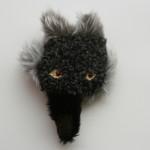 黒オオカミバッジ